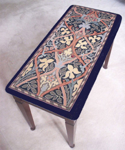 Morris Needlepoint Piano Bench Cover