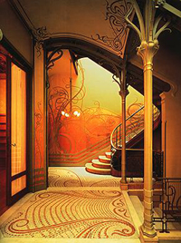 Art Nouveau Area Rugs
