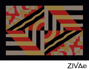 What A Bold And Beautiful European Modernist Area Rug Design!