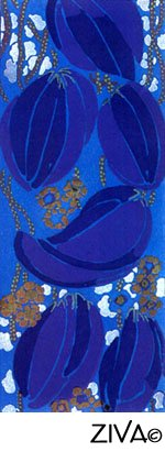 seed pods tapestry art